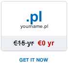 Free .pl domain name