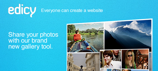 Share your photos with our brand new gallery tool